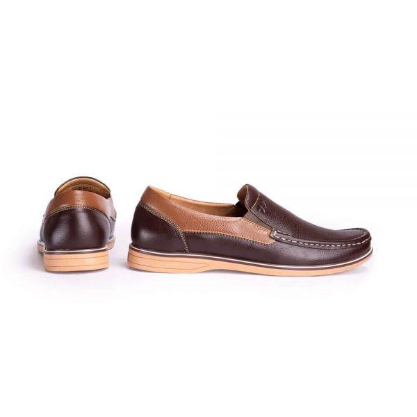 Giày mọi nam da bò Giày lười da thật Insho Đen 4